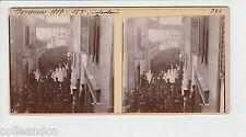 █ Vue Stéréoscopique / Stéréo : MILITARIA Manoeuvres 1909 153° RI Infanterie █