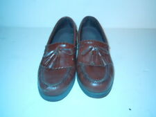 Hunters Bay Leather Collection brown tassel loafer size 10 R