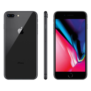APPLE IPHONE 8 PLUS 64GB GRAY  TOTAL WIRELESS, SIMPLE MOBILE & STRAIGHT TALK