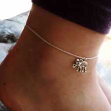 Boho Silver Elephant Anklet Ankle Bracelet Chain Barefoot Sandal Beach Jewelry