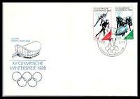 1988 GERMANY Cover - Winter Olympics In Calgary, Canada, Berlin FL