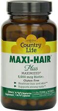 Maxi-Hair Plus Maximized, Country Life, 120 capsule