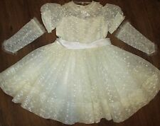 Vintage 1950s First Holy Communion- Flower Girl- Party Dress- Child's -Formal