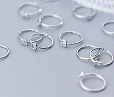 Women / Girl 925 sterling silver Dainty Adjustable Letter Open Ring Allergy Free