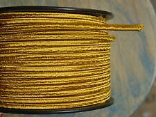 Gold 2-Wire Tuch Bedeckt Kordel, 18ga. Vintage Stil Lampen, Antik Licht, Viskose