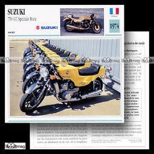 #071.17 SUZUKI GT 750 SPECIALE ROCA 1974 Fiche Moto Motorcycle Card