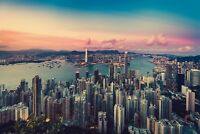 Hong Kong - Skyline Cityscape City Landscape Wall Art Poster / Canvas Pictures