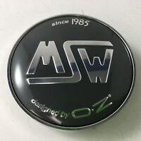 """MSW By OZ Wheel Gray Center Cap X080 C-080 2-3/8"""" DIA"""