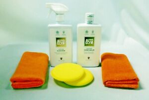 AUTOGLYM Leather Cleaner and Balm Leather Cleaning Set Feeder  Rejuvenator Kit