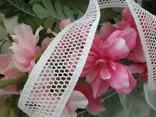 Cotton Cluny Leavers Lace White 3 cms wide. Pattern 2081 Made in Great Britain
