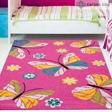 Alfombras rectangulares color principal rosa para niños