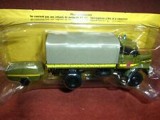 CAMION TRUCK POMPIERS Berliet L64 4x4 baché + motopompe  1/43 Neuf A12