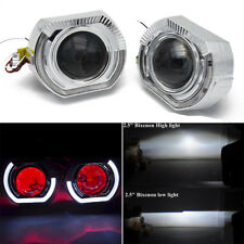 2 x 2.5 inch Bi-xenon Projector Lens Red LED Demon Eyes & White Angel Eyes