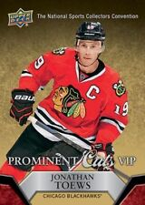 JONATHAN TOEWS 2014/15 2015 Upper Deck UD national convention VIP prominent cuts