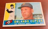 1960 Topps # 450 Orlando Cepeda San Francisco Giants SF Baseball Card HOF