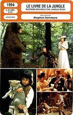 Movie Card. Fiche Cinéma. Le livre de la jungle (G.-B./Inde/U.S.A.) 1994