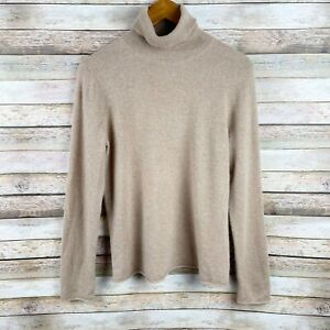 Neiman Marcus Cashmere Camel Tan 100% Cashmere Turtleneck Sweater Size Large