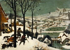 Pieter Bruegel the Elder Hunters in the Snow Giclee Canvas Print LARGE SIZE