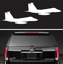 2X Fighter Jet Sticker Vinyl Decal Aircraft Air force Airline Pilot Aviation Fly
