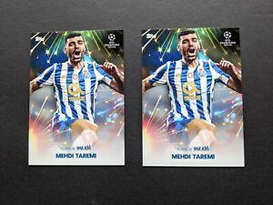 2x 2021 Topps Football Festival Aoki Flare Mehdi Taremi Porto Iran