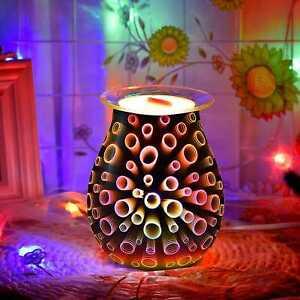 Desire Aroma Electric Wax Melt Burner 3D Circle Lamp Night Light Tart Wax Warmer