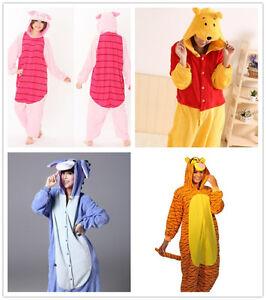 Winnie the pooh characters Unisex Onesiee Fancy Dress Costume Hoodies Pyjamas