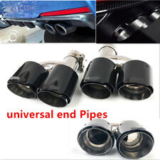 Carbon Fiber Exhaust Pipe Tail Muffler Tip Left+Right 2.48-3.5 inch Fit For Cars