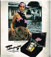 Publicité Advertising 1977 Parfum Tamango de Leonard
