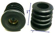"""Oajen S-R100TM8 caster socket for 1"""" OD tube metric M8 - 1.25 thread, 4-pack"""