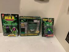 1997 Toy Biz The Incredible Hulk Smash and Crash Action Figure - She Hulk & MASK