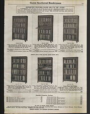 1923 ADVERT Gunn Sectional Bookcases Grand Rapids Michigan