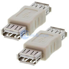 Pack of 2 USB A Female to USB A Female Coupler USB 2.0 Adapter