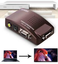 VGA to Video AV S-Video Converter Box,Computer Notebook PC to VGA TV Projector
