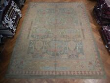 Olde Good Turkish Rug 11' x 15' Oushak Green Traditional Hand-Knotted