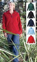 Regatta Ladies Womens Plain Full Zip Fleece Jacket BLUE BLACK GREEN PINK or RED