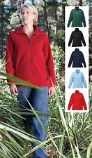 Regatta Ladies Womens Plain Full Zip Fleece Jacket BLUE BLACK GREEN PINK or RED