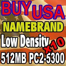 10 LOT 512 512MB DDR-2 DDR2 pc2-5300 5300 240-pin 240pin MEMORY RAM Desktop JOB
