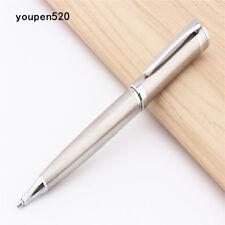 Luxury pen Baoer 3035 Stainless Steel Metal Silvery School office Ballpoint pen