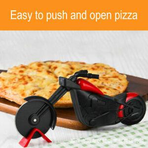Stainless Steel Motorbike Pizza Cutter Bike Dual Slicer Chopper Kitchen Tool UK