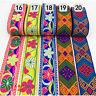 7yards Floral Embroidery Jacquard Ribbon Braid Trim Woven Costume Border Craft