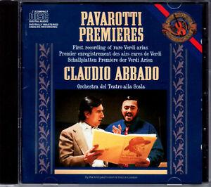 LUCIANO PAVAROTTI sings RARE VERDI ARIAS – CD mit CLAUDIO ABBADO & ORCHESTRA del