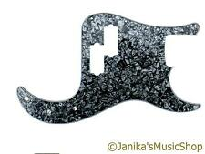 Precision Bass guitar pickguard scratch plate BLACK Pearloid Pearl PB bwb-a NUOVO