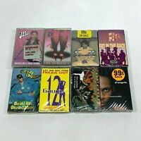 Lot 8 Cassette Tapes 90s Rap Hip Hop D'Angelo Queen Pen 12 Gauge LiL Mo [SEALED]