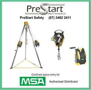 MSA Confined space entry kit. Inc Tripod, 20mt winch and 15mt rescuer
