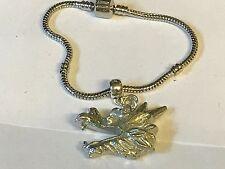 Dragon Head TG106 on a silver Rhodium Plated Snake Bracelet