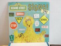 "Big Bird,CTW Sesame Street,""SIGNS!"",US,LP,stereo, STILL SEALED, rare,1975"