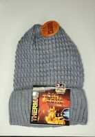 Heat Zone womens Thermal Cuffed Winter Hat purple soft cozy lining 3.4 TOG