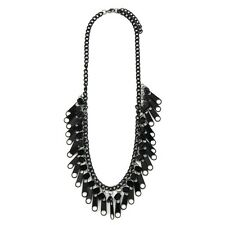 Necklace -Funky Kitsch Jewellery Joe Cool Black Iron Retro Zip Statement Fashion