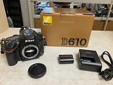 Nikon D610 24.3MP Digital SLR Camera - Black (Body Only)
