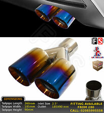 """UNIVERSAL STAINLESS STEEL BURN TIP EXHAUST TAILPIPE 2.5"""" IN RIGHT-Ssangyong"""